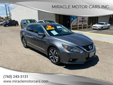 2016 Nissan Altima for sale at Miracle Motor Cars Inc. in Victorville CA
