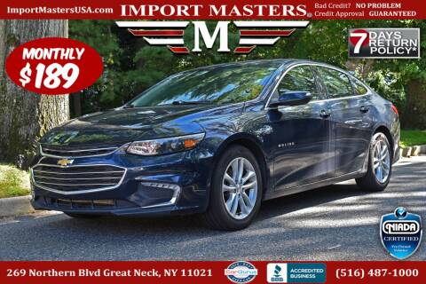 2018 Chevrolet Malibu for sale at European Masters in Great Neck NY