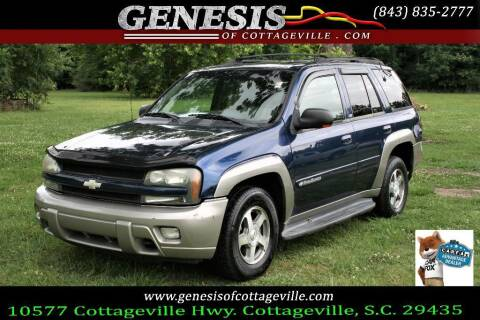 2002 Chevrolet TrailBlazer for sale at Genesis Of Cottageville in Cottageville SC
