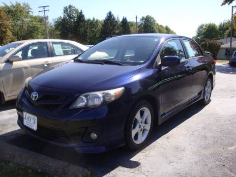 2012 Toyota Corolla for sale at Jay's Auto Sales Inc in Wadsworth OH
