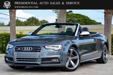 2016 Audi S5 for sale at Presidential Auto  Sales & Service in Delray Beach FL