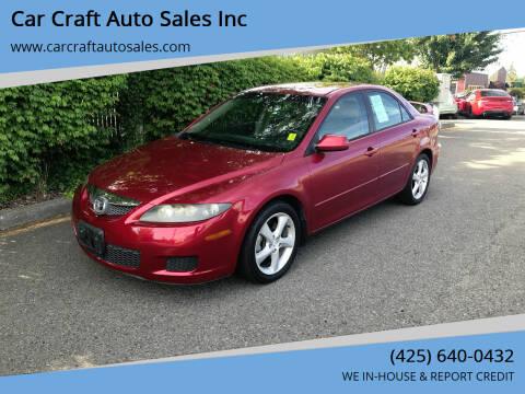 2006 Mazda MAZDA6 for sale at Car Craft Auto Sales Inc in Lynnwood WA