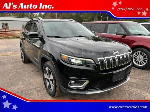 2019 Jeep Cherokee for sale at Al's Auto Inc. in Bruce Crossing MI
