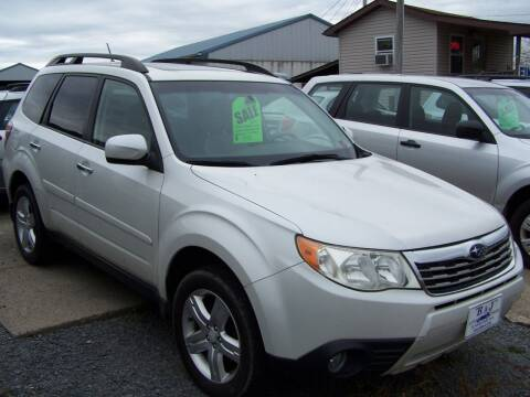 2010 Subaru Forester for sale at B & J Auto Sales in Tunnelton WV