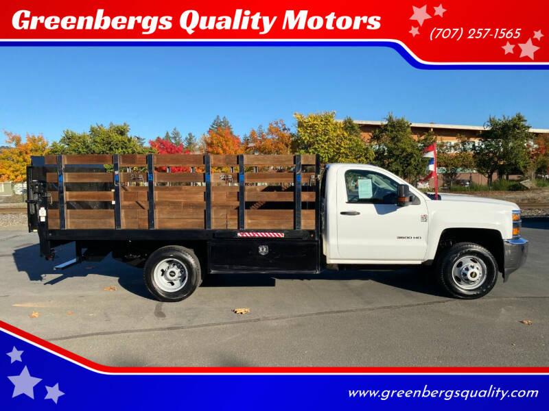 2015 Chevrolet Silverado 3500HD CC for sale at Greenbergs Quality Motors in Napa CA