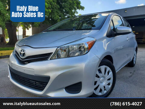 2013 Toyota Yaris for sale at Italy Blue Auto Sales llc in Miami FL