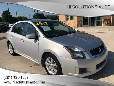 2012 Nissan Sentra for sale at HI SOLUTIONS AUTO in Houston TX