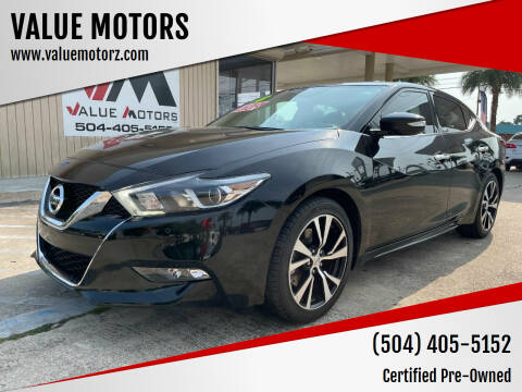 2018 Nissan Maxima for sale at VALUE MOTORS in Kenner LA