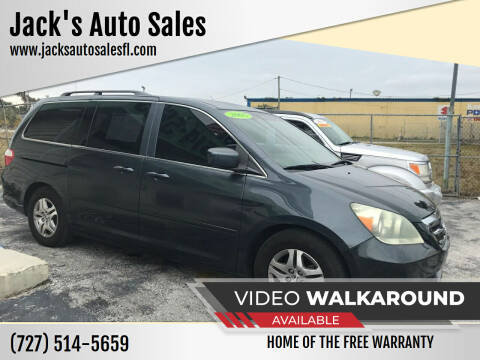 2005 Honda Odyssey for sale at Jack's Auto Sales in Port Richey FL