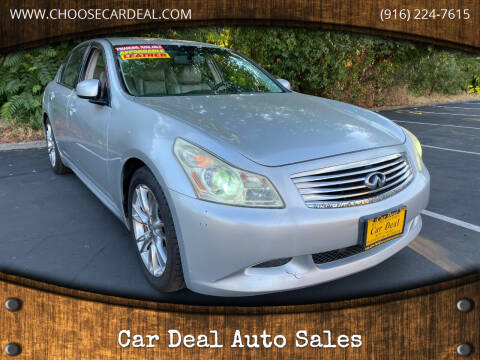 2008 Infiniti G35 for sale at Car Deal Auto Sales in Sacramento CA