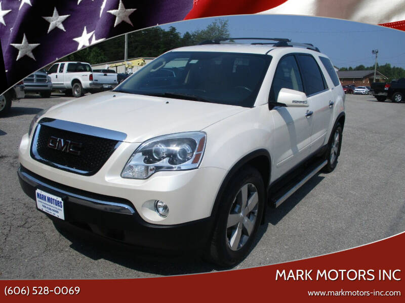 2011 GMC Acadia for sale at Mark Motors Inc in Gray KY