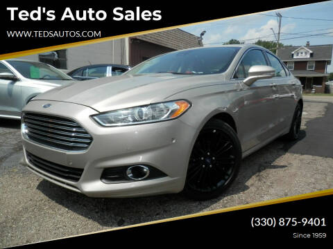 2016 Ford Fusion for sale at Ted's Auto Sales in Louisville OH