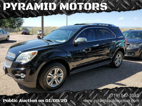 2012 Chevrolet Equinox for sale at PYRAMID MOTORS - Pueblo Lot in Pueblo CO