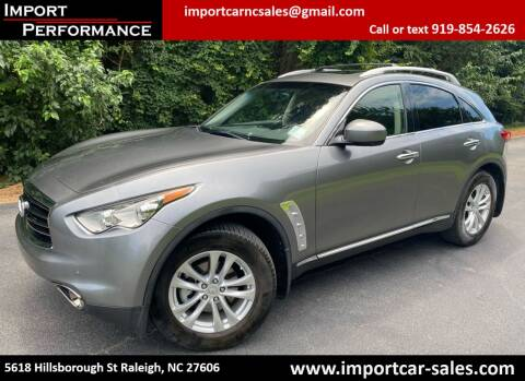 2013 Infiniti FX37 for sale at Import Performance Sales in Raleigh NC