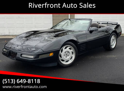 1991 Chevrolet Corvette for sale at Riverfront Auto Sales in Middletown OH