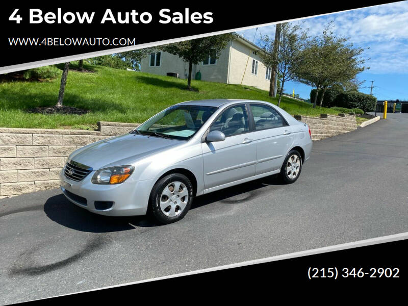 2009 Kia Spectra for sale at 4 Below Auto Sales in Willow Grove PA