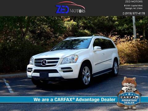 2012 Mercedes-Benz GL-Class for sale at Zed Motors in Raleigh NC