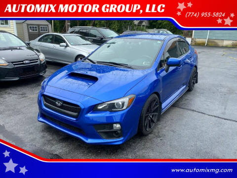 2015 Subaru WRX for sale at AUTOMIX MOTOR GROUP, LLC in Swansea MA