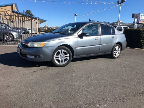 2004 Saturn Ion for sale at BOARDWALK MOTOR COMPANY in Fairfield CA