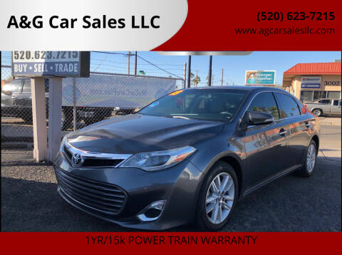 2013 Toyota Avalon for sale at A&G Car Sales  LLC in Tucson AZ