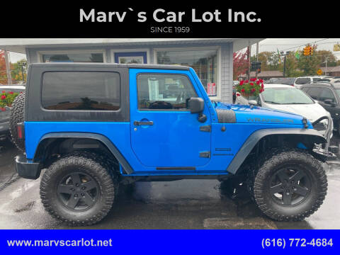 2014 Jeep Wrangler for sale at Marv`s Car Lot Inc. in Zeeland MI