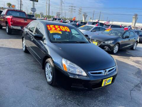 2006 Honda Accord for sale at Texas 1 Auto Finance in Kemah TX