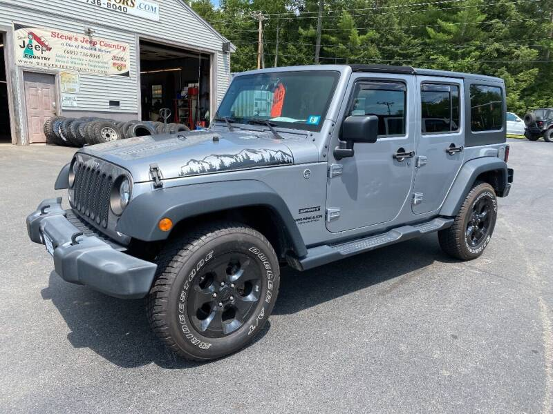 2016 Jeep Wrangler Unlimited for sale at Route 4 Motors INC in Epsom NH