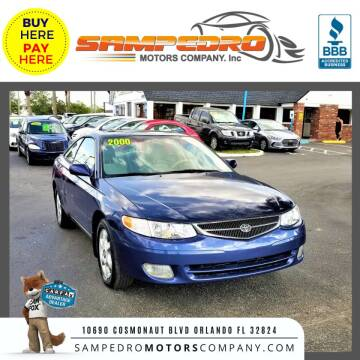 2000 Toyota Camry Solara for sale at SAMPEDRO MOTORS COMPANY INC in Orlando FL