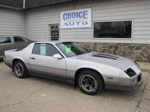 1986 Chevrolet Camaro for sale at Choice Auto in Carroll IA