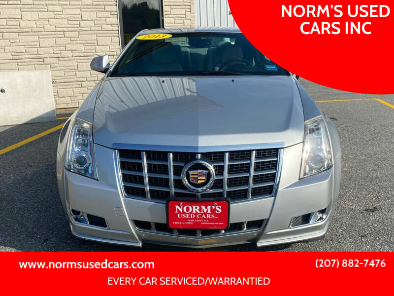 2013 Cadillac CTS for sale at NORM'S USED CARS INC in Wiscasset ME
