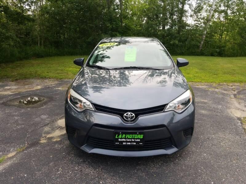 2014 Toyota Corolla for sale at L & R Motors in Greene ME