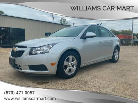2014 Chevrolet Cruze for sale at WILLIAMS CAR MART in Gassville AR