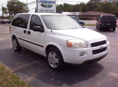 2008 Chevrolet Uplander for sale at LAKESIDE MOTORS LLC in Houghton Lake MI