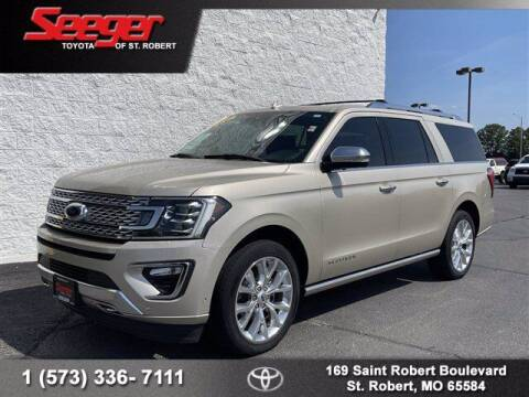 2018 Ford Expedition MAX for sale at SEEGER TOYOTA OF ST ROBERT in Saint Robert MO