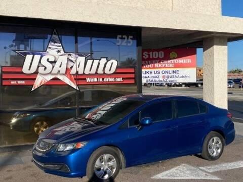 2013 Honda Civic for sale at USA Auto Inc in Mesa AZ