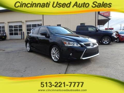 2015 Lexus CT 200h for sale at Cincinnati Used Auto Sales in Cincinnati OH