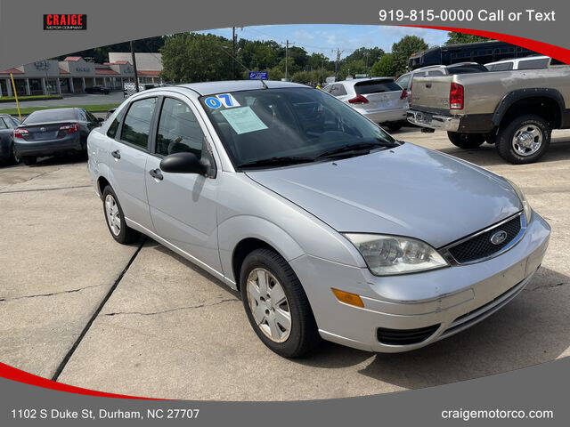 2007 Ford Focus for sale at CRAIGE MOTOR CO in Durham NC