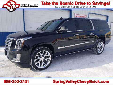 2017 Cadillac Escalade ESV for sale at Spring Valley Chevrolet Buick in Spring Valley MN