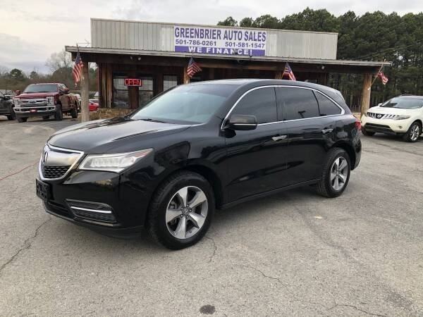 2014 Acura MDX for sale at Greenbrier Auto Sales in Greenbrier AR