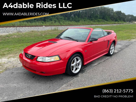 2000 Ford Mustang for sale at A4dable Rides LLC in Haines City FL