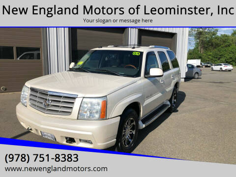2004 Cadillac Escalade for sale at New England Motors of Leominster, Inc in Leominster MA
