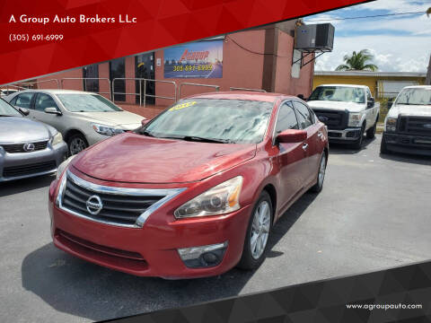 2015 Nissan Altima for sale at A Group Auto Brokers LLc in Opa-Locka FL