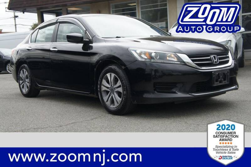 2015 Honda Accord for sale at Zoom Auto Group in Parsippany NJ