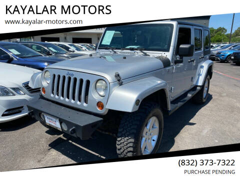 2008 Jeep Wrangler Unlimited for sale at KAYALAR MOTORS in Houston TX
