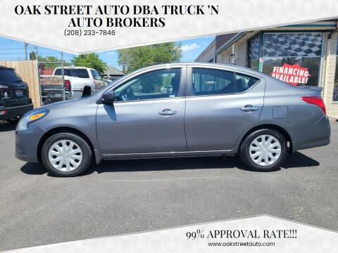 2016 Nissan Versa for sale at Oak Street Auto DBA Truck 'N Auto Brokers in Pocatello ID
