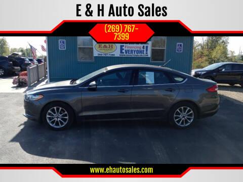 2017 Ford Fusion for sale at E & H Auto Sales in South Haven MI