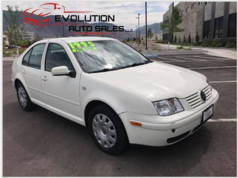 2003 Volkswagen Jetta for sale at Evolution Auto Sales LLC in Springville UT