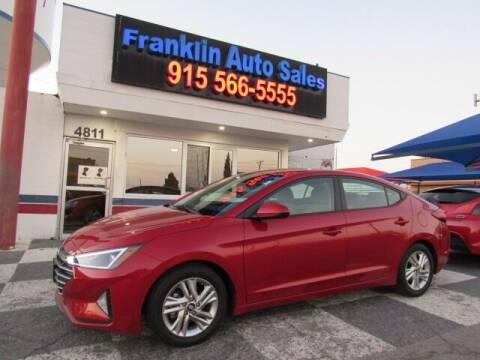 2019 Hyundai Elantra for sale at Franklin Auto Sales in El Paso TX