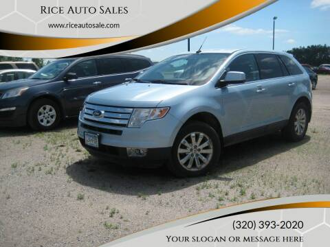 2008 Ford Edge for sale at Rice Auto Sales in Rice MN