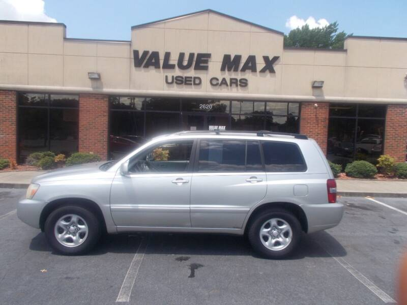 2007 Toyota Highlander for sale at ValueMax Used Cars in Greenville NC